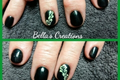 Gelish The Dark Site met nailart acrylpoeder