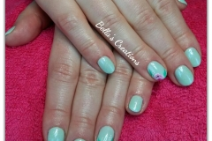 Gelish met nailart one stroke