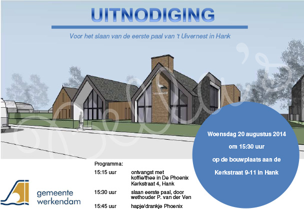 Uitnodiging 1e paal Uivernest